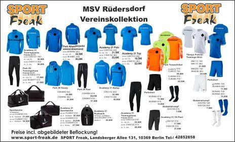 MSV Rüdersdorf Flyer 2021